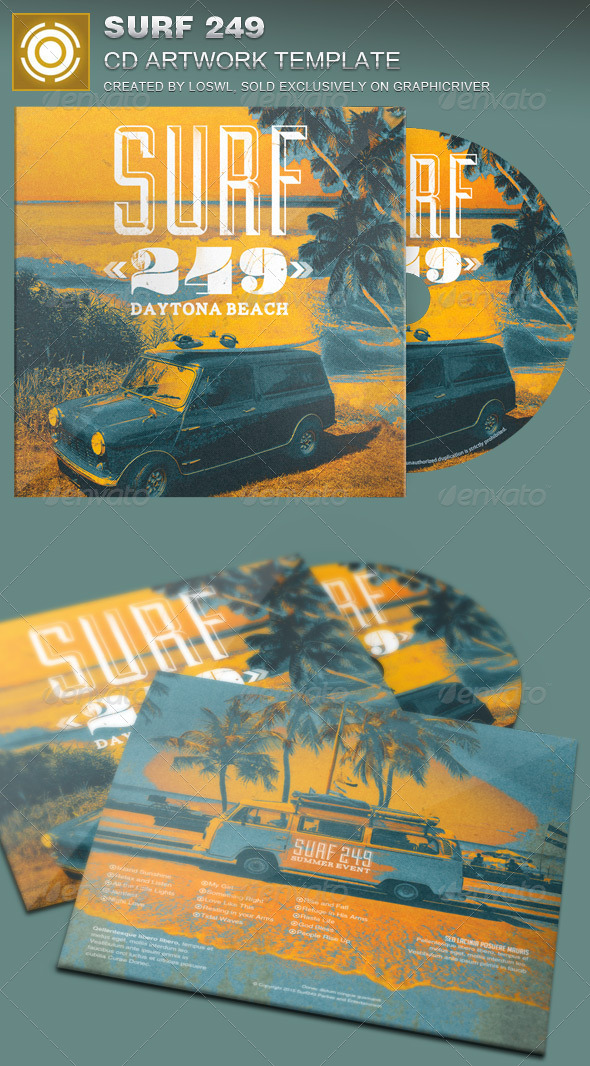 GraphicRiver Surf 249 CD Artwork Template 8076805