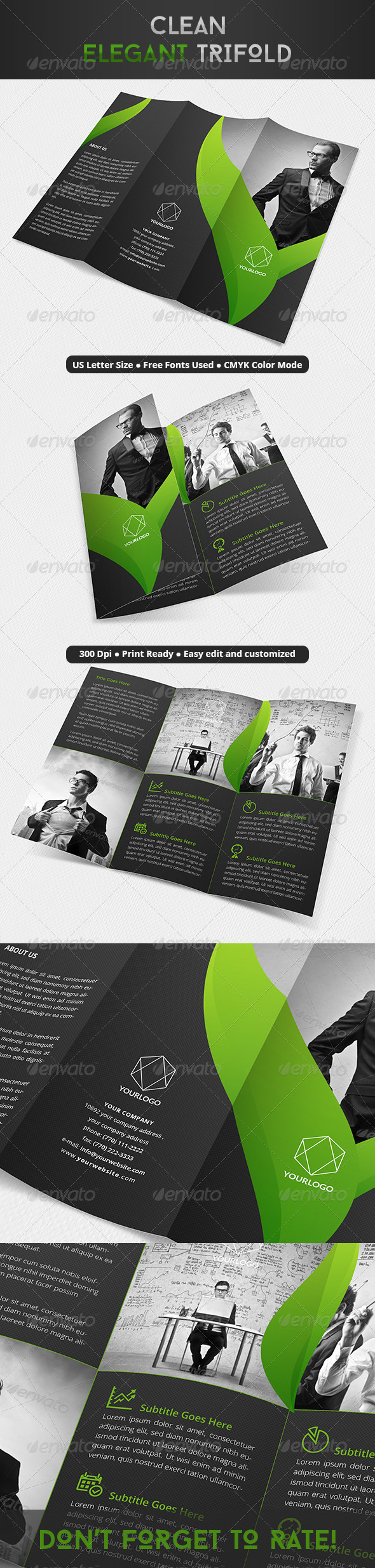 GraphicRiver Clean Elegant Trifold 8083895