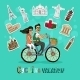 Couple on a Cycling Vacation - GraphicRiver Item for Sale