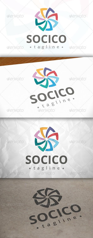 GraphicRiver Social Shell Logo 8084055