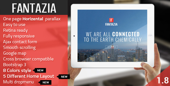 Fantazia - Multi Purpose Bootstrap Retina One Page - Creative Site Templates