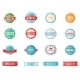 Set of Colored Emblems and Stamps - GraphicRiver Item for Sale
