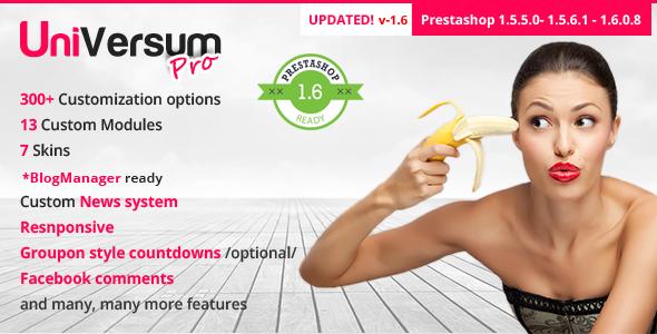 UniVersum Pro- premium responsive Prestashop theme