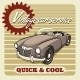 Quick and Cool - Vintage Car Service Poster - GraphicRiver Item for Sale