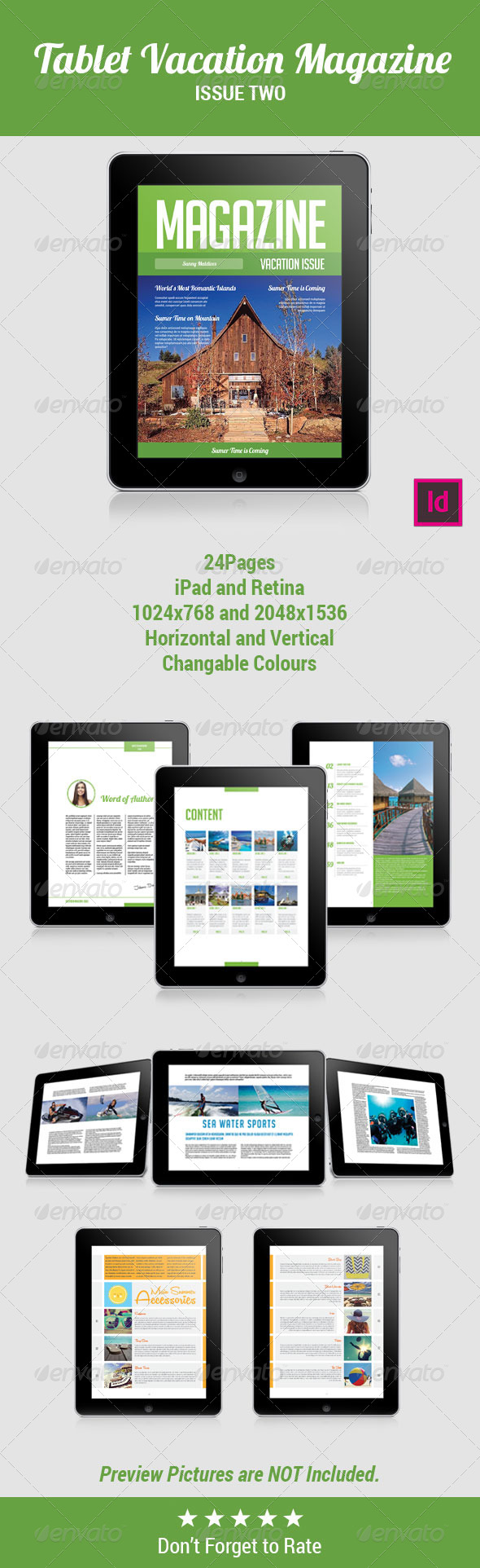 GraphicRiver Tablet Vacation Magzine Template Issue Two 8084198