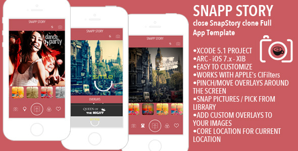 CodeCanyon Snapp Story Picture Editor Full App Template 8084379