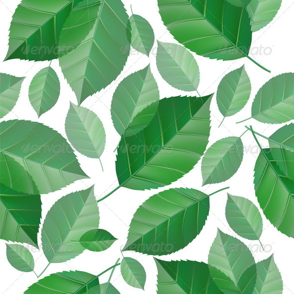 GraphicRiver Seamless Green Leaves 8084383