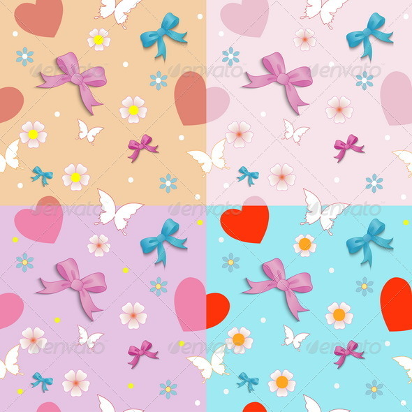 GraphicRiver Seamless Pattern with Bows 8084395