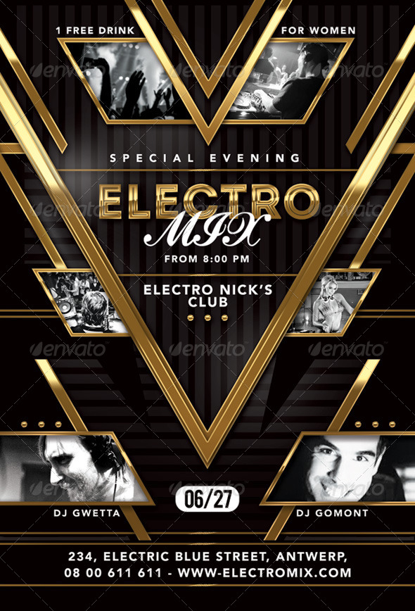 GraphicRiver Special Evening Electro Mix Party In Club 8084797
