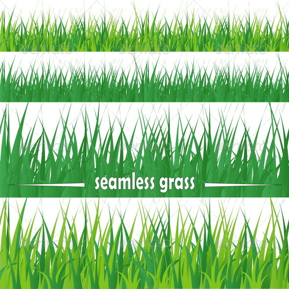 GraphicRiver Set of Seamless Grass 8084798
