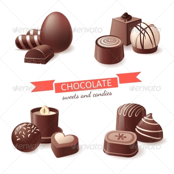 GraphicRiver Chocolate Sweets and Candies 8084938