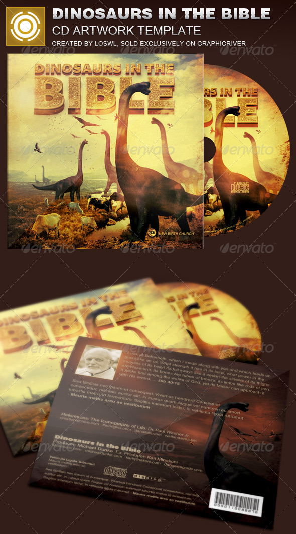 GraphicRiver Dinosaurs in the Bible CD Artwork Template 8084939