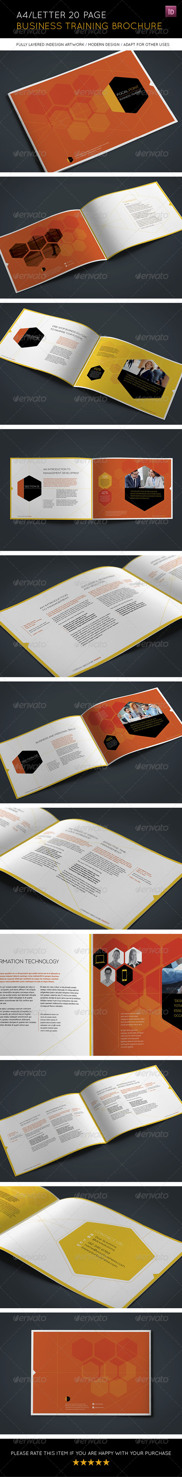 GraphicRiver 20 Page Landscape Business Training Brochure 8084960