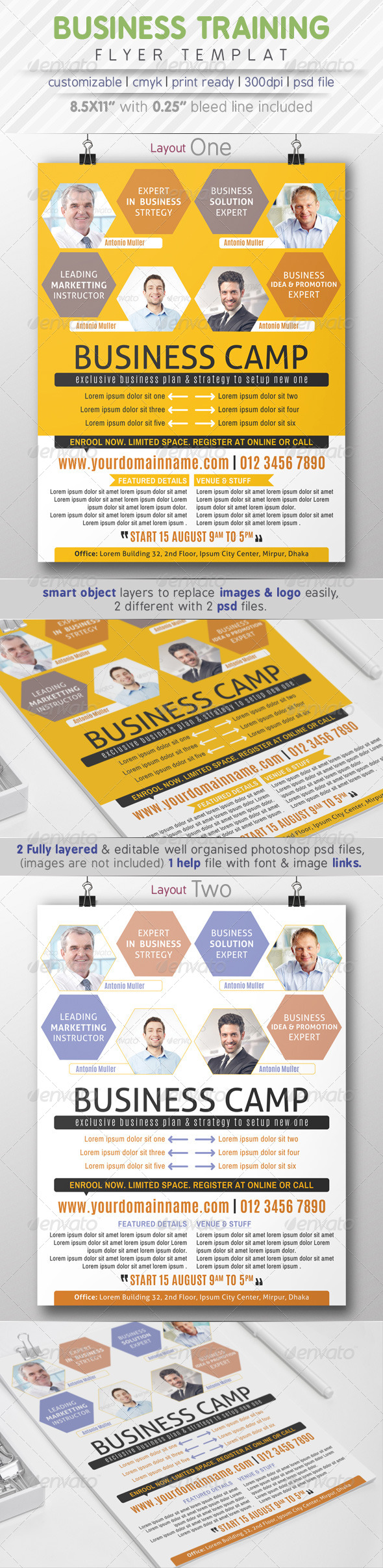 GraphicRiver Business Training Flyer Ads 8085018