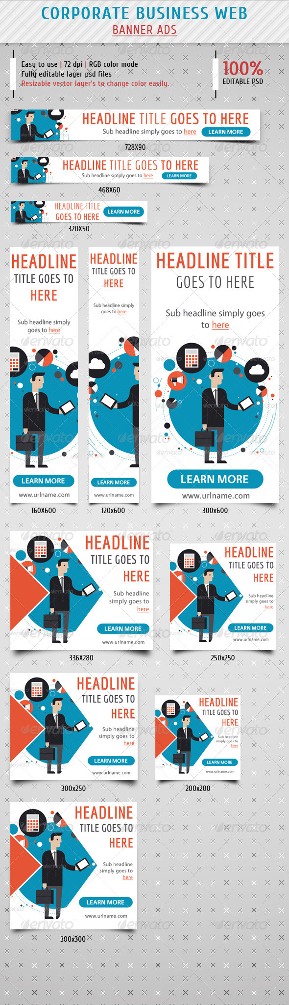 GraphicRiver Corporate Business Banner Ads 8085069