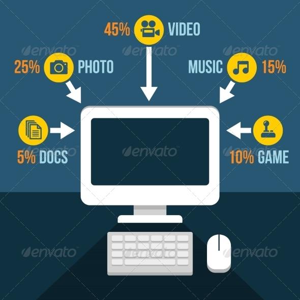 GraphicRiver Computer Content Analytics Infographic 8085133