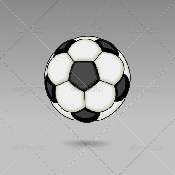 GraphicRiver Football Ball on Light Background 8085188