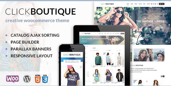 Click Boutique - Fashion Shop WordPress WooCommerce Theme - WooCommerce eCommerce