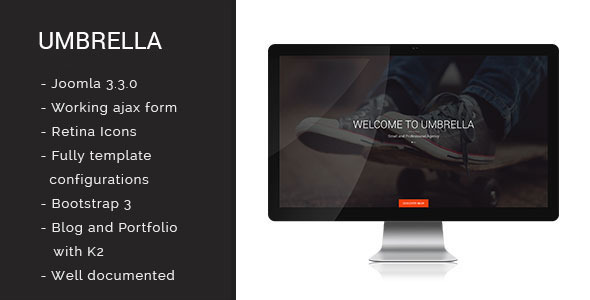 Umbrella - One Page Joomla Template