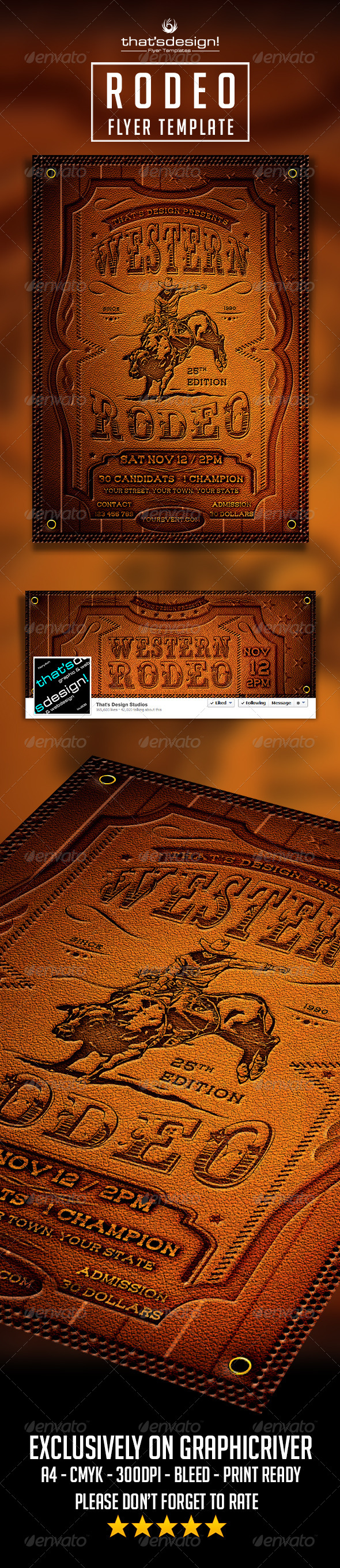 Rodeo Flyer Template - Events Flyers