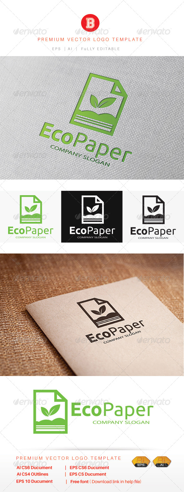 GraphicRiver Eco Paper 8085468