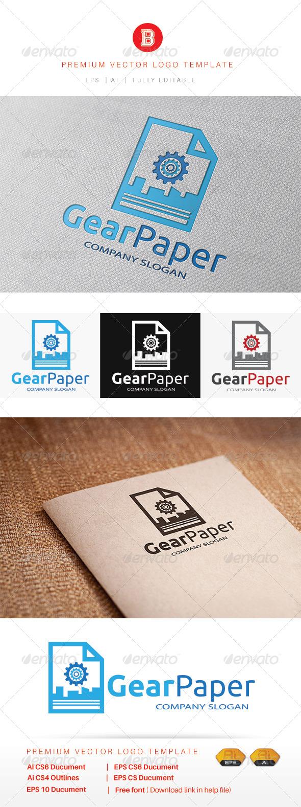 GraphicRiver Gear Paper 8085543