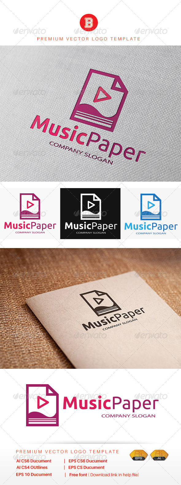GraphicRiver Music Paper 8085553