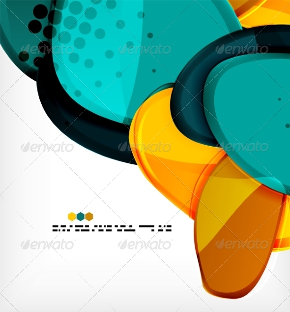 GraphicRiver Round Shapes Abstract Vector Background 8085597