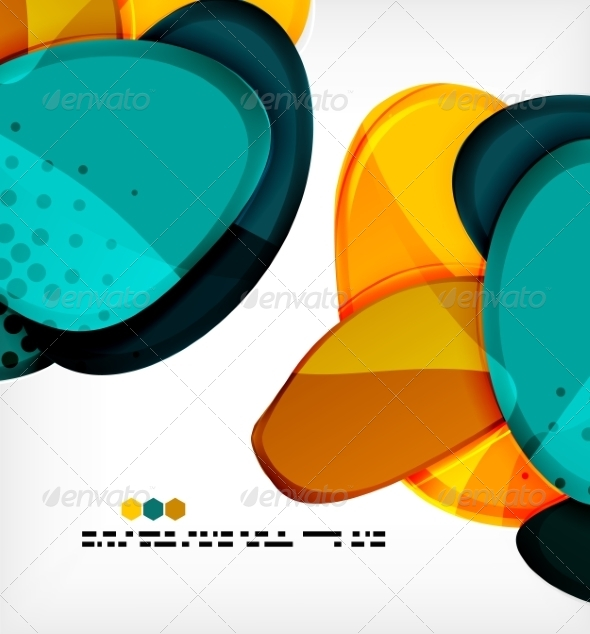 GraphicRiver Round Shapes Abstract Vector Background 8085608