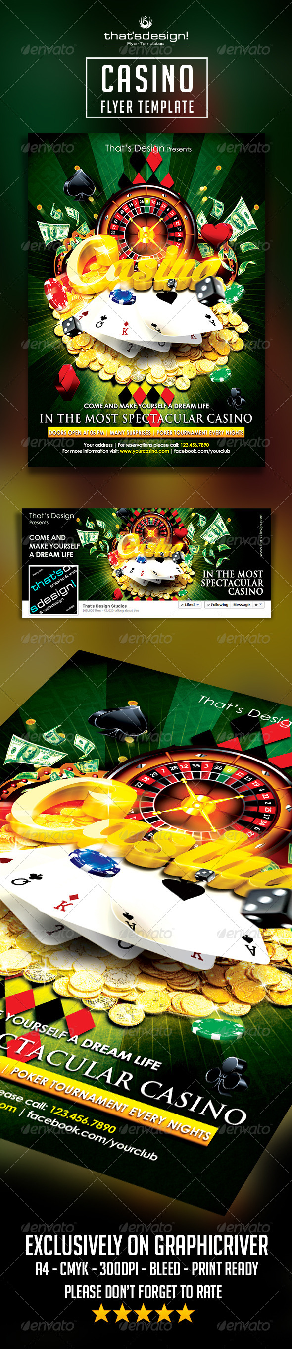 Casino Flyer Template - Print Templates