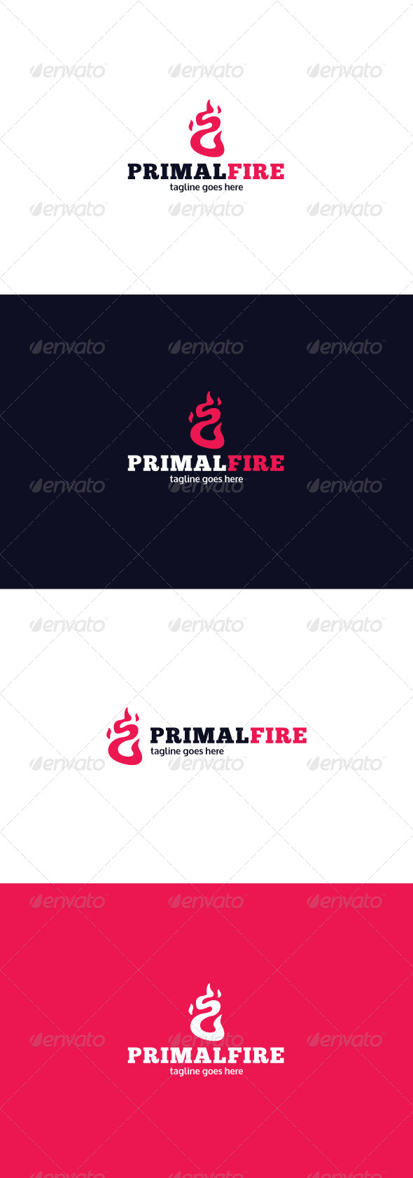 GraphicRiver Primal Fire Logo 8085936