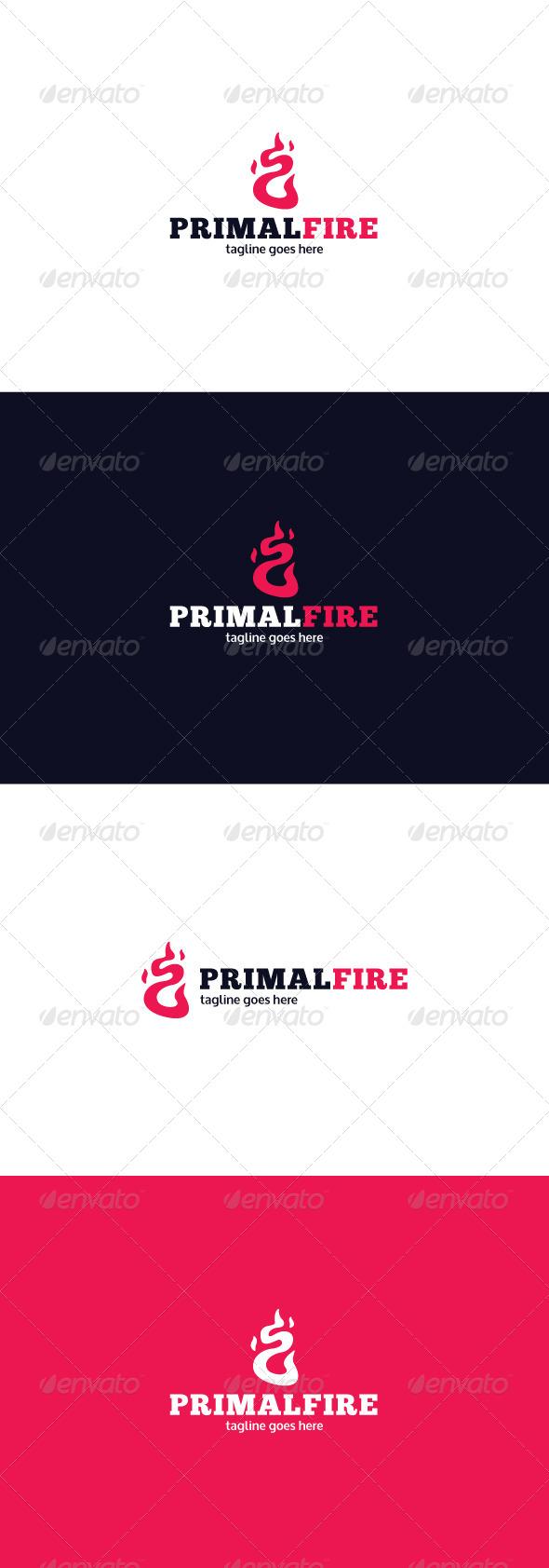 GraphicRiver Primal Fire Logo 8085936