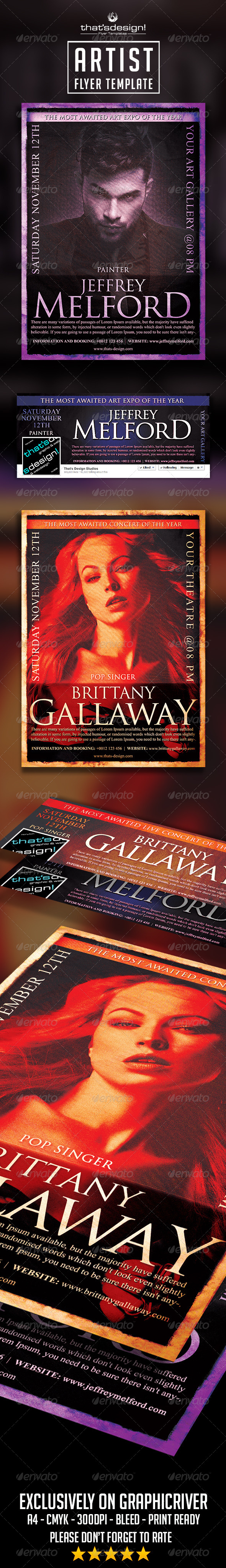 Artist Flyer Template - Concerts Events