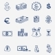Money Icons Set Doodle Sketch Hand Drawn - GraphicRiver Item for Sale
