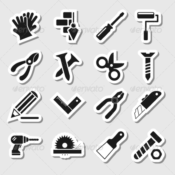 GraphicRiver Tools Icons as Labels Vol 2 8086183
