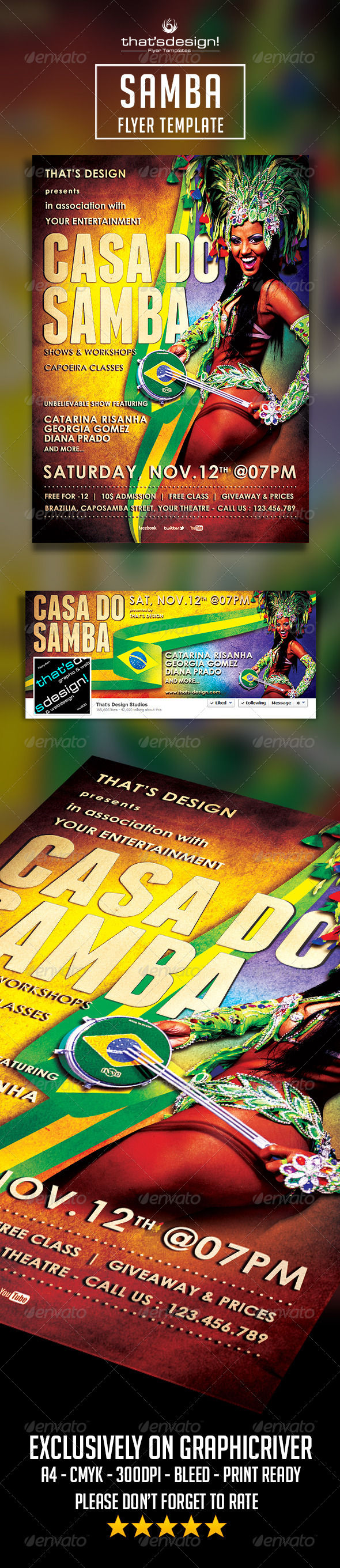Samba Flyer Template - Print Templates