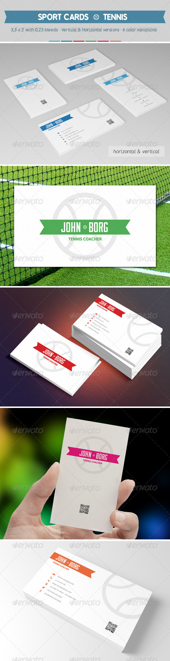 Sport Business Cards Tennis