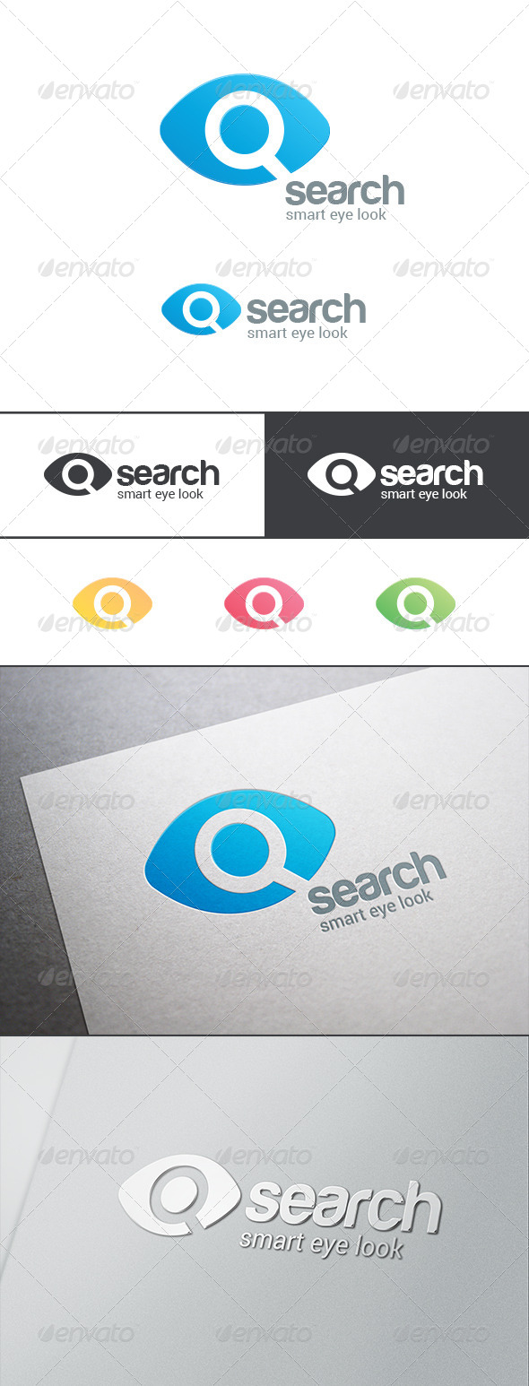 GraphicRiver Search Eye Magnified Glass Logo 8086558