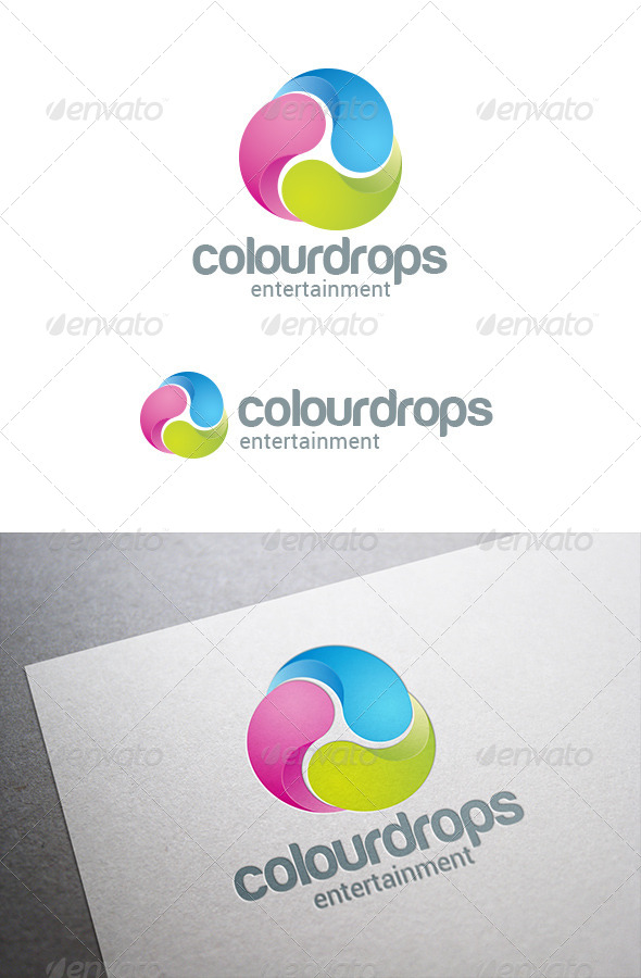 Three Drops Infinite Loop Logo Abstract