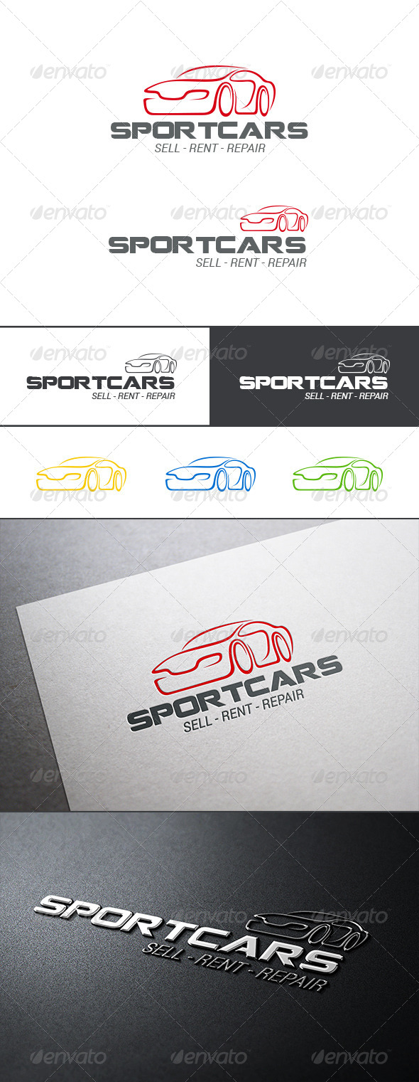 GraphicRiver Auto Car Logo Abstract 8086573