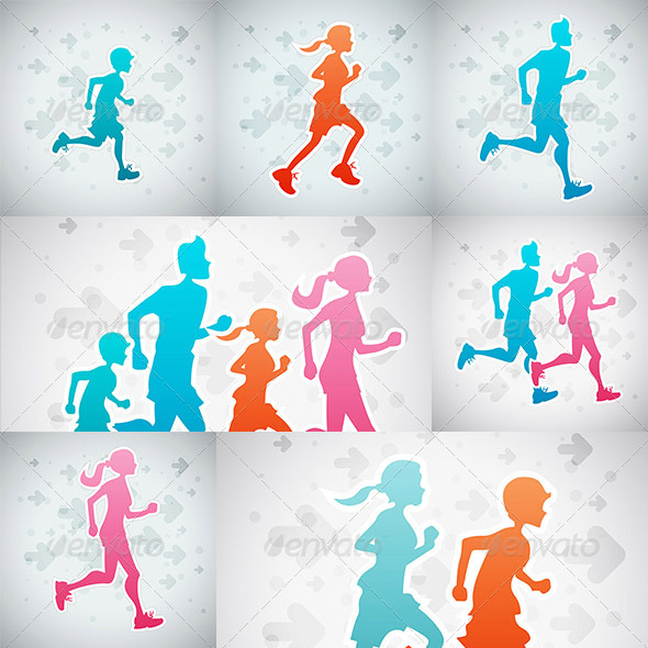 GraphicRiver Running Set 8086675