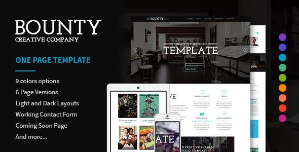 Bounty Modern Responsive HTML Template