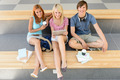 College students relax during break with tablet - PhotoDune Item for Sale