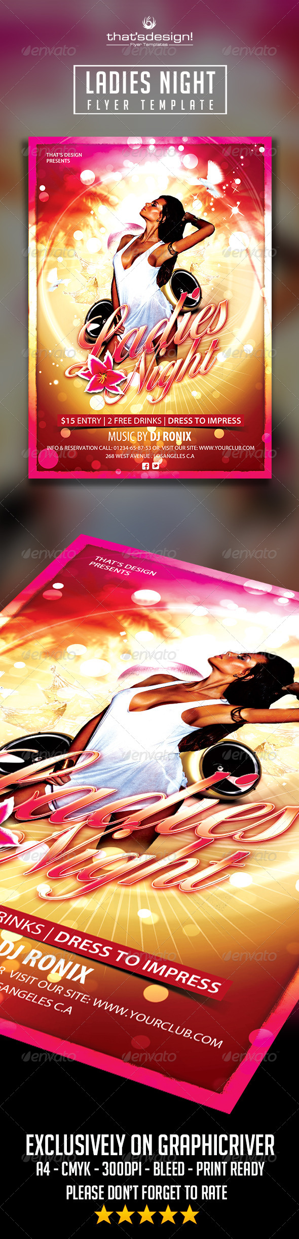 Sensual Ladies Night Flyer Template - Clubs & Parties Events