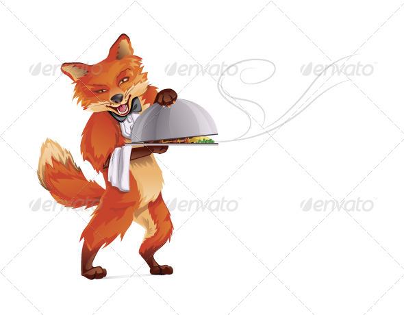 GraphicRiver Fox Waiter 8087251