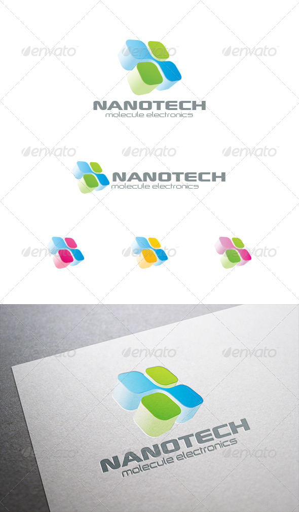 GraphicRiver Electronics Technology Chip Logo 8087452