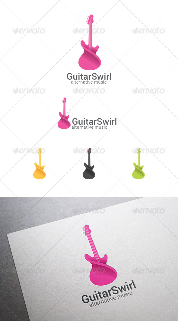 GraphicRiver Logo Guitar Abstract 8087496