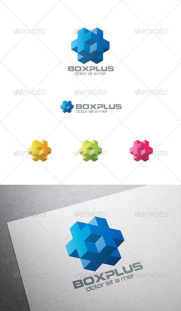 GraphicRiver Box Plus 3D Logo Abstract 8087524