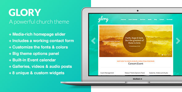 Glory - A WordPress Theme for Churches