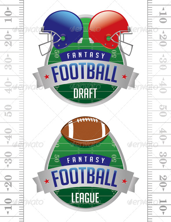 Vector American Fantasy Football Illustrations